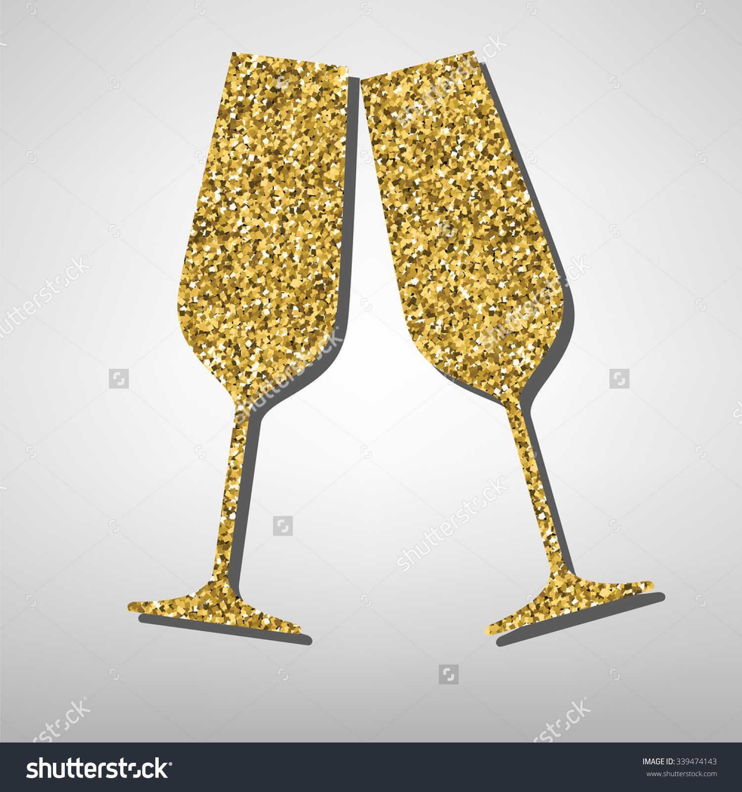 Conceptual vector illustration of sparkling champagne glasses ...