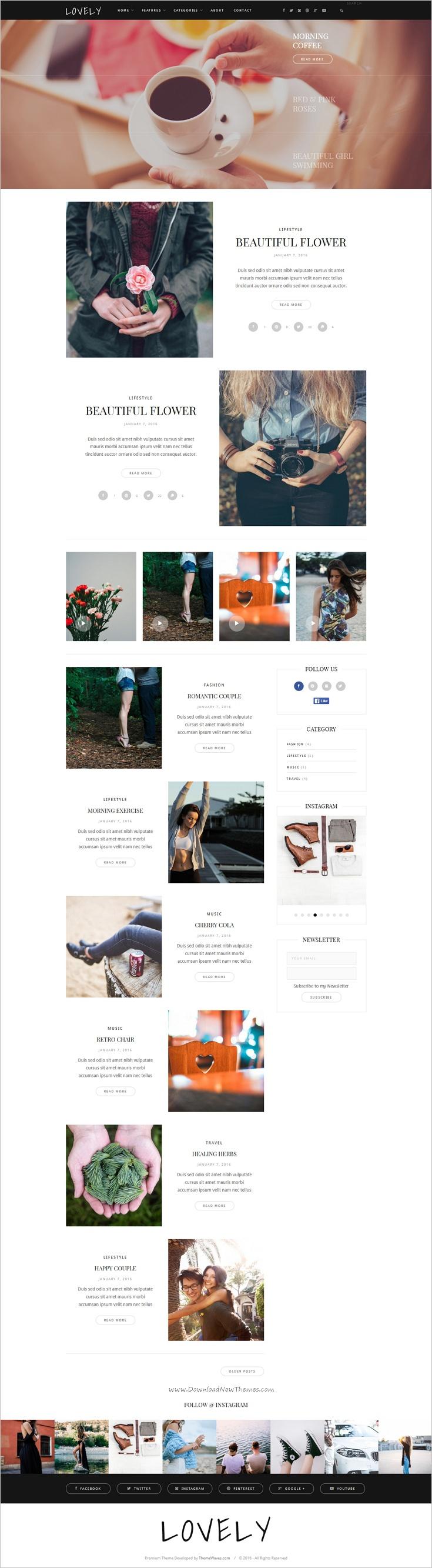 Lovely is an elegant and modern design responsive #HTML bootstrap ...