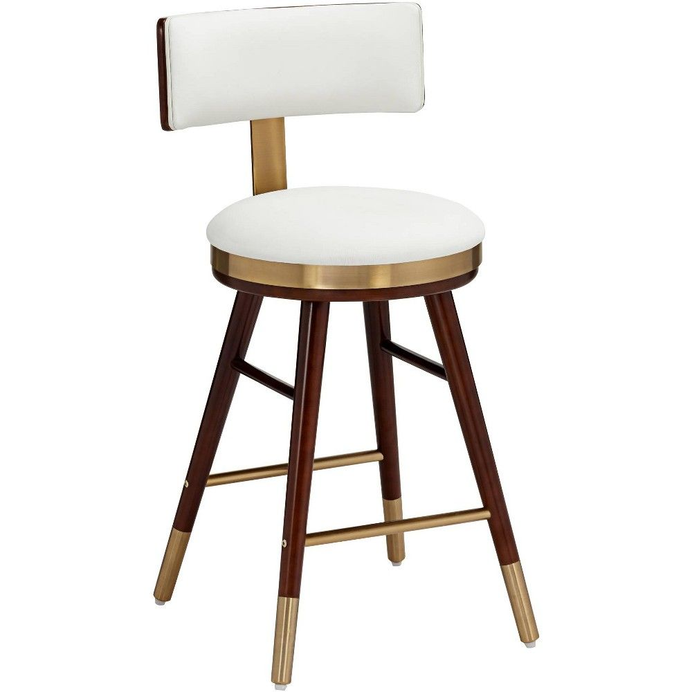 Studio 55d Parker 25 1 2 White Leather Counter Stool Target In 2020 Leather Counter Stools Contemporary Counter Stools Counter Stools