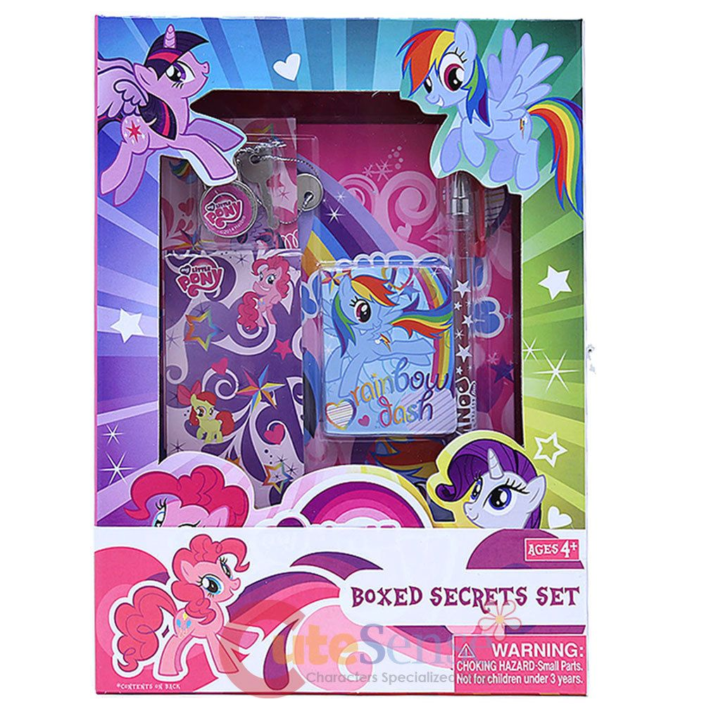 My Little Pony Secrets Diary Note Set With Lock Journal Book Set My Little Pony Pictures My Little Pony Merchandise My Little Pony