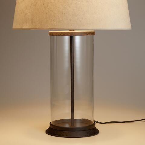 Glass Cylinder Table Lamp Base   World Market