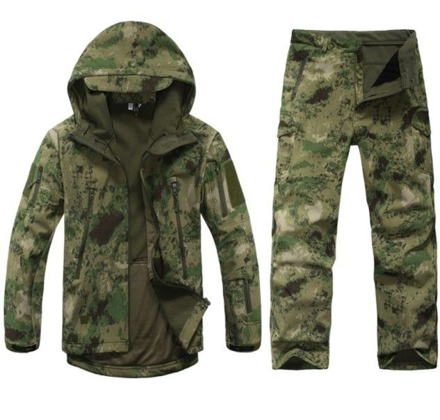 US Special Ops Tactical Army SOFT SHELL polaire Veste woodland camouflage jacket