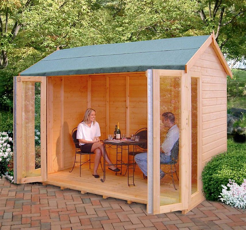 Small rectangular summerhouse - 10x8 Blenheim DIY Kit