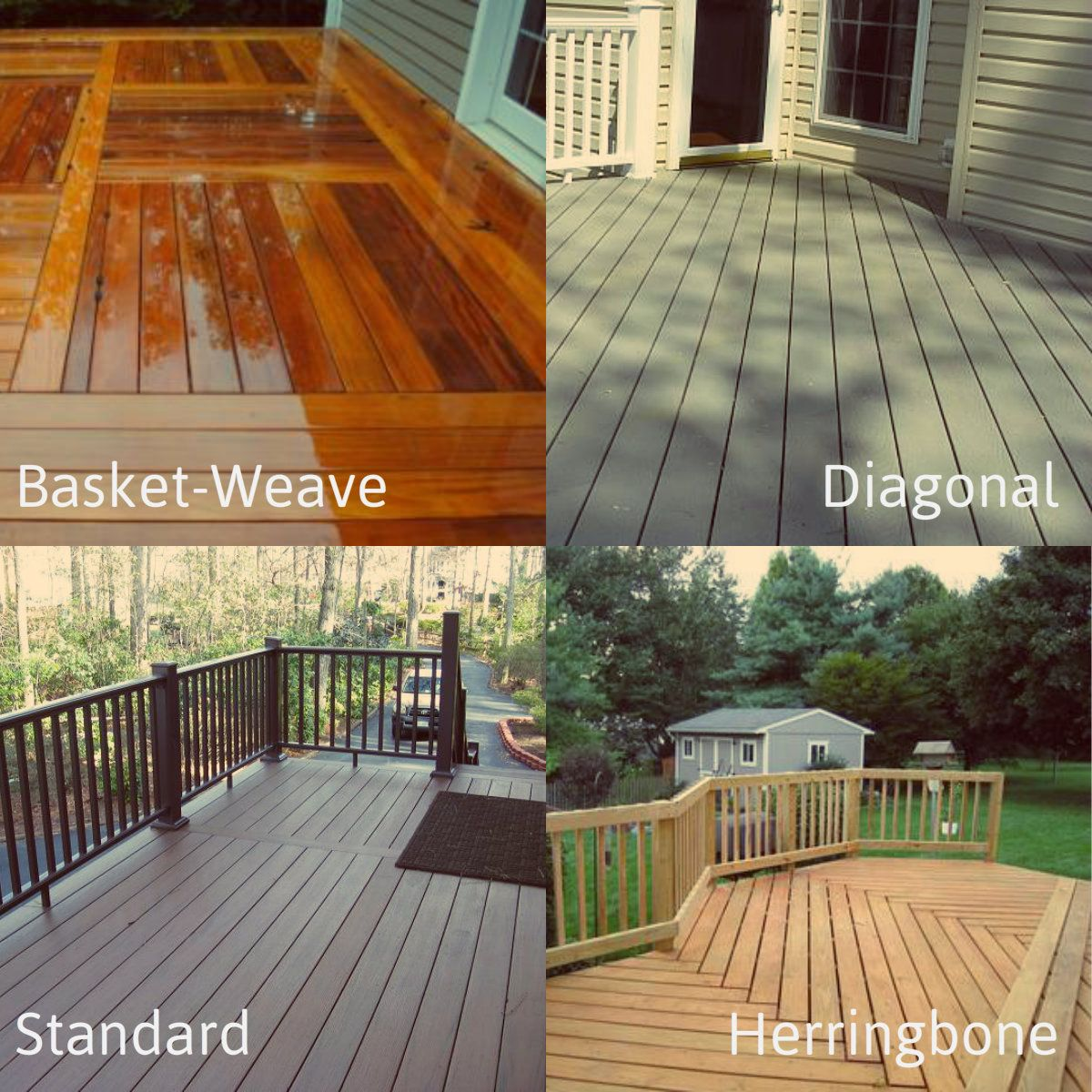 There are all types of decking patterns