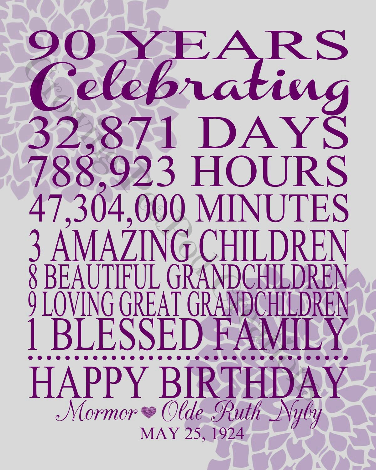 90th birthday gift httpsfacebookpeapodcreations 90th birthday gift httpsfacebookpeapodcreations negle Images