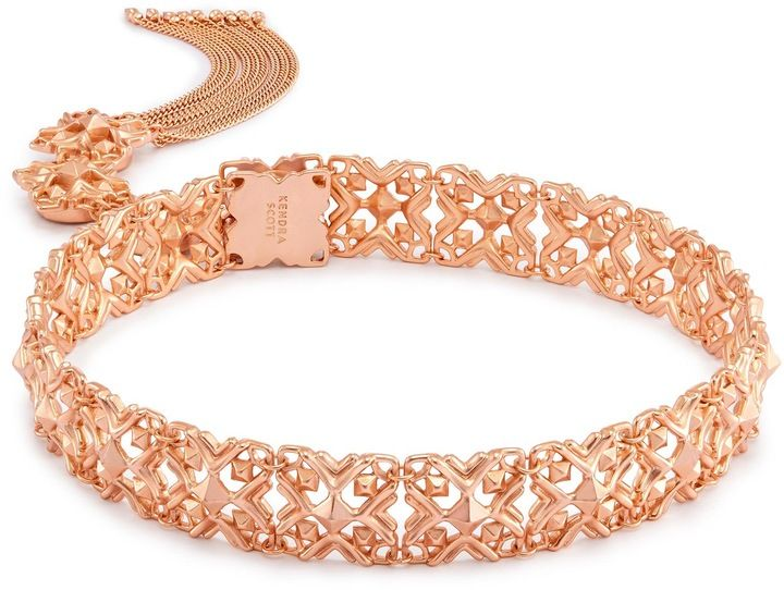 0aed9edc172 Heidi Choker Necklace in Rose Gold. Rose gold looks so beautiful with a  summer ...