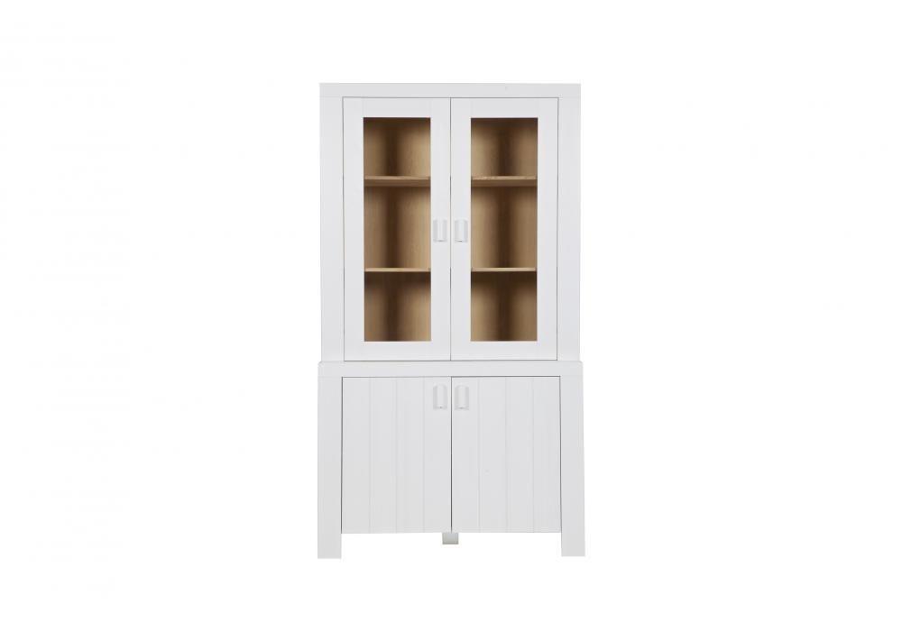 woood opzetkast arizona geborsteld wit 117 x 110 x 37 cm bestel je online bij formido de voordelige bouwmarkt