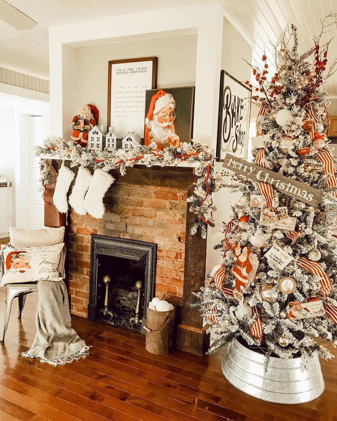 the living room christmas in july