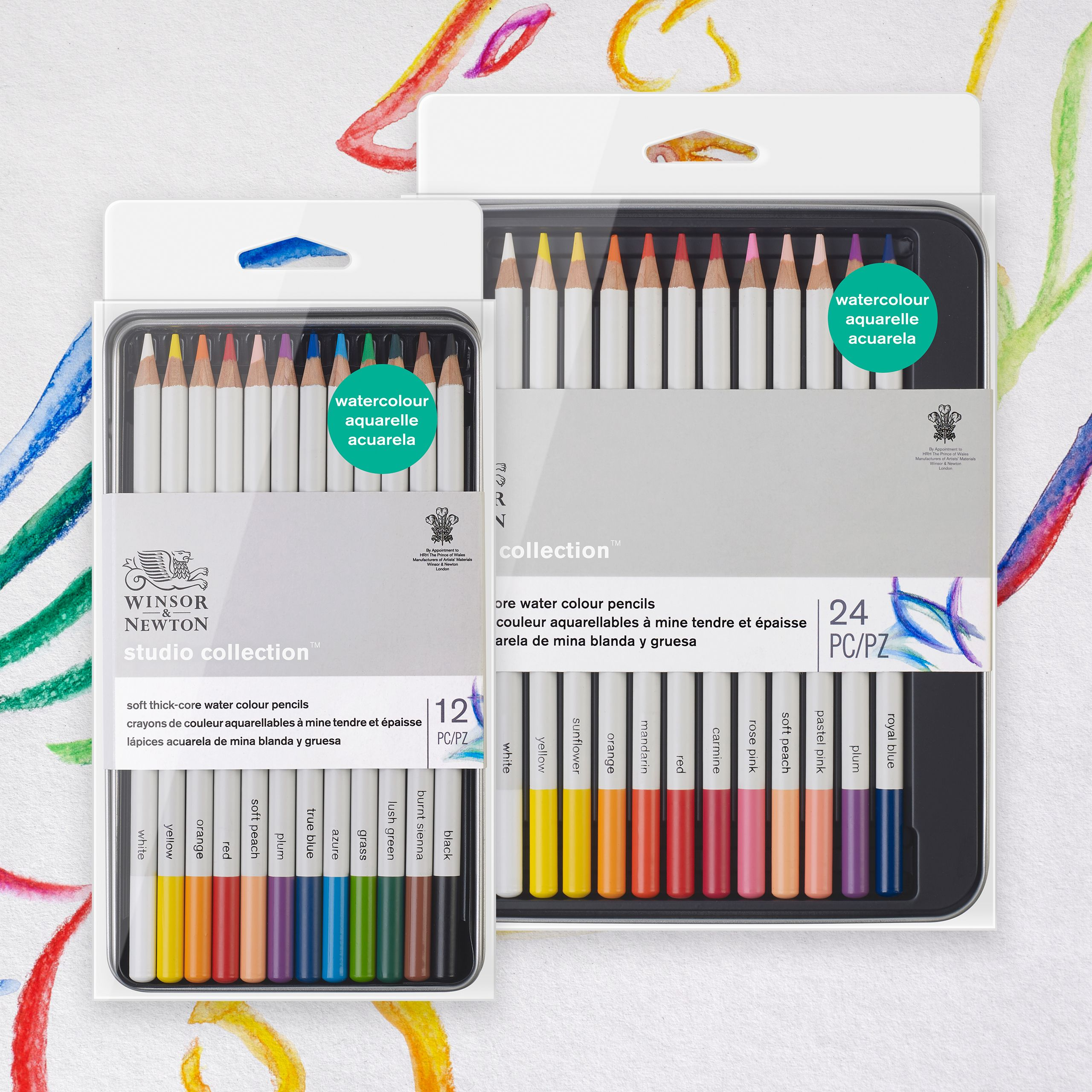 Winsor Newton Studio Collection Water Colour Pencil Sets