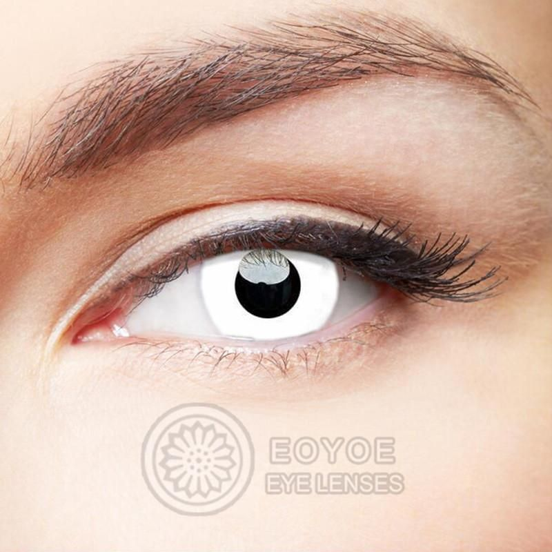 Eye Circle Lens Zombie Curse White Colored Contact Lenses V6031 #coloredeyecontacts