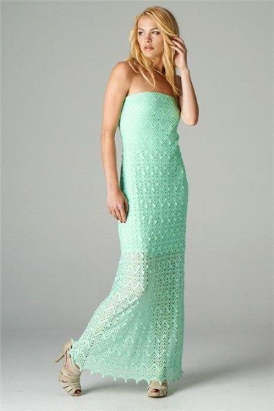 Images of Strapless Casual Maxi Dress - Reikian