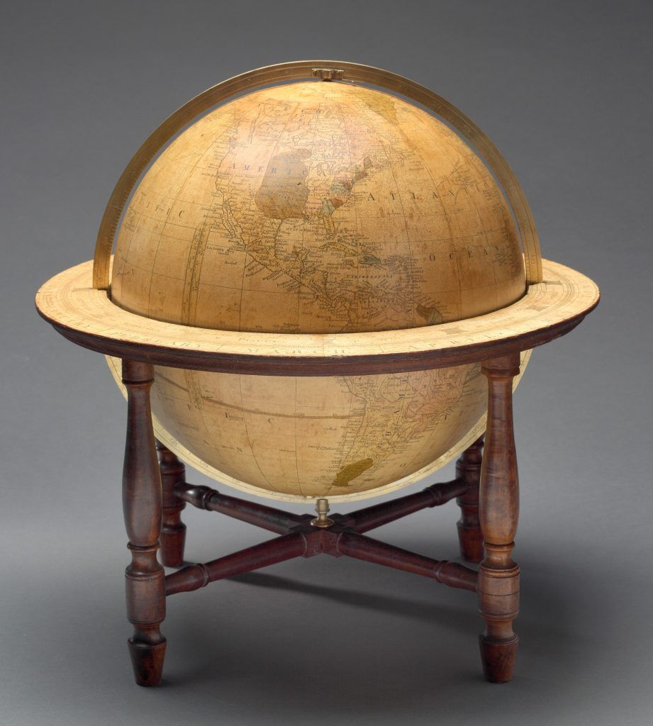 One of earliest globes made in America