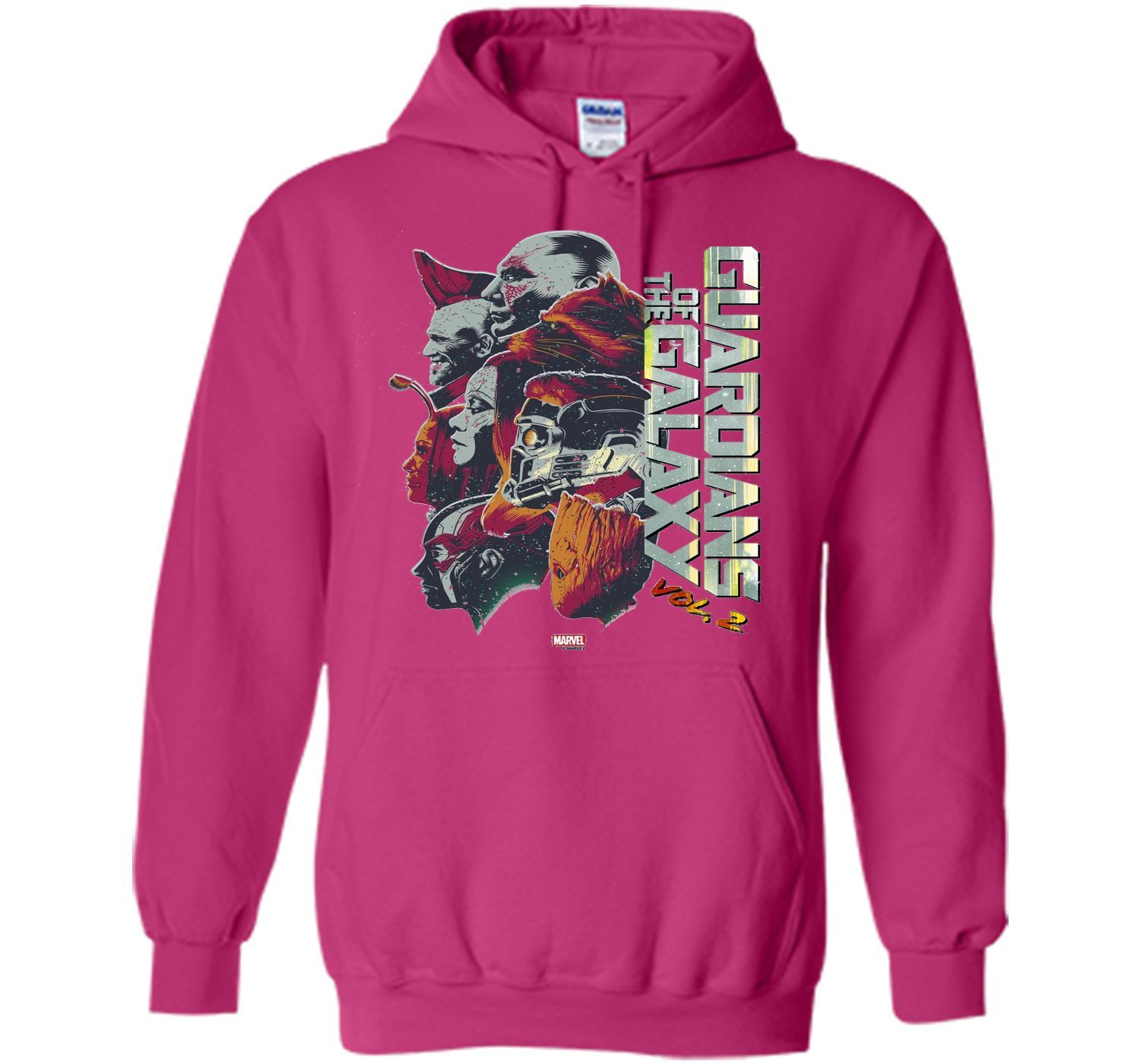 Marvel Guardians of Galaxy 2 Team Profile Graphic T-Shirt