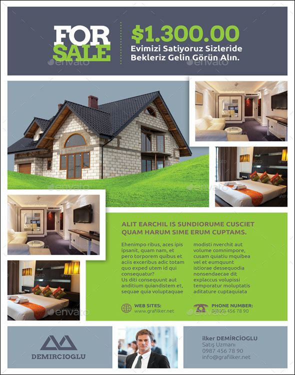 Free Real Estate Flyer PSD Templates Download Pinterest - Free real estate flyer templates download
