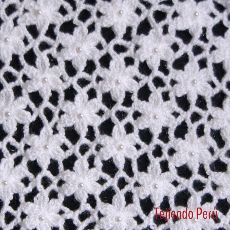 Crochet video del paso a paso para tejer el punto jard n - Puntos para tejer ...