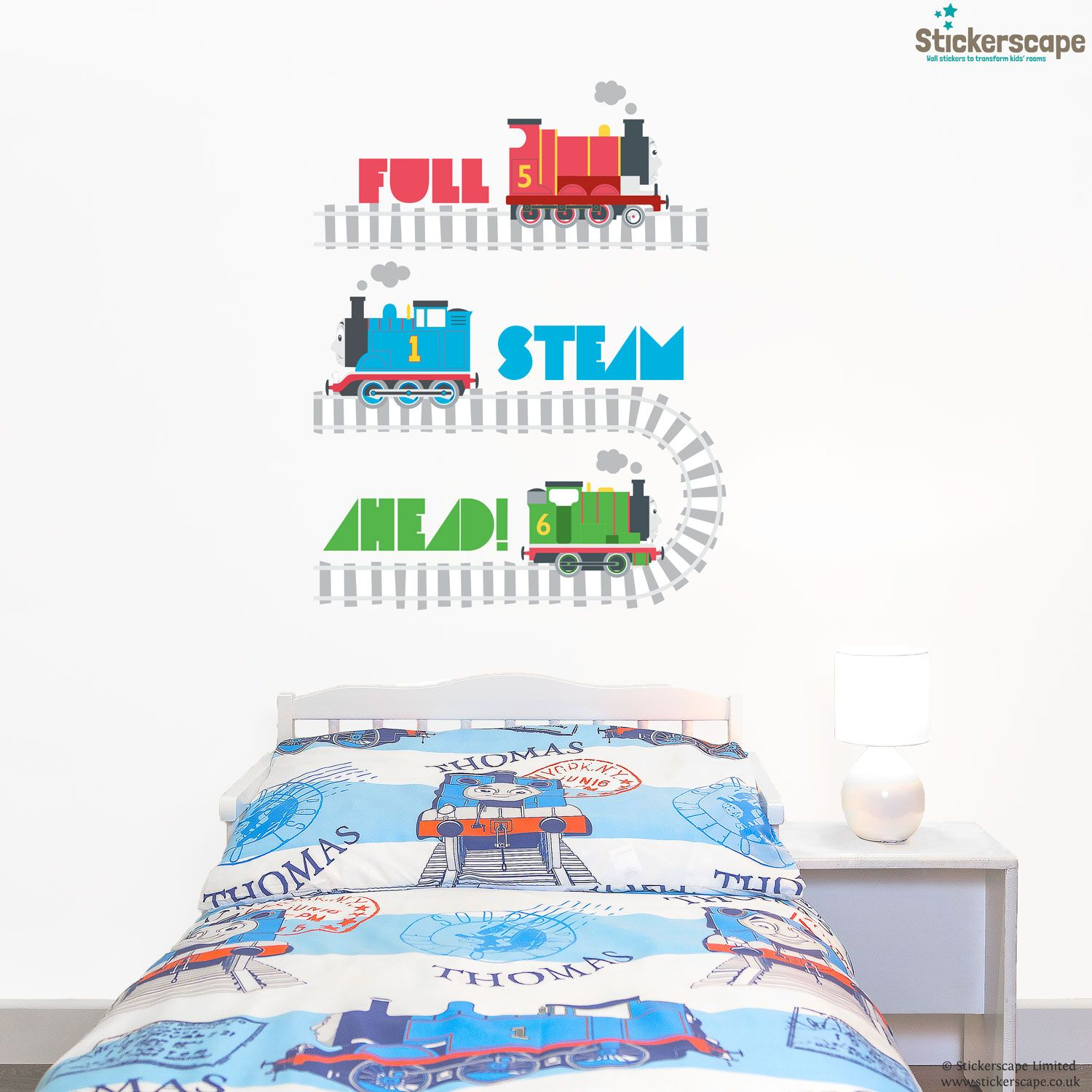 Stickerscapes Official Thomas The Tank Engine Wall Sticker Range Is