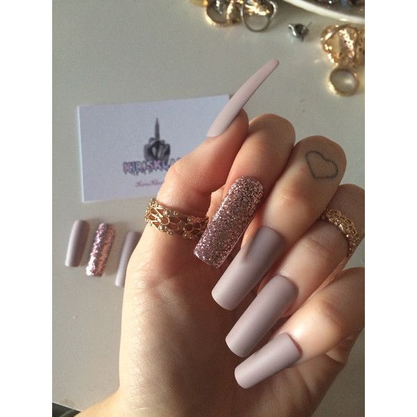 x Pink Fizz x Extra long false nails square stiletto coffin shape ...