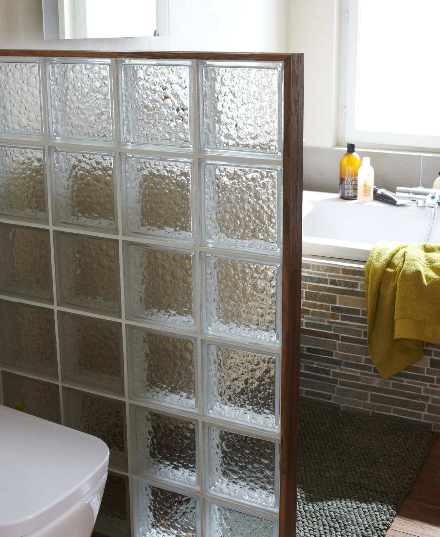 briques de verre transparent bull brillant salledebain sdb salle de bain brique et. Black Bedroom Furniture Sets. Home Design Ideas