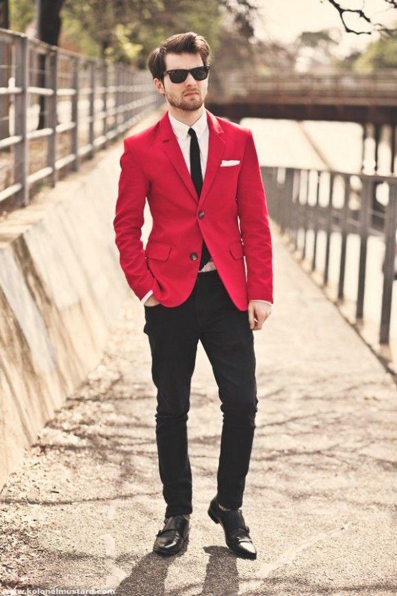 7cd0e030edb7 Red Suit & Black Monk | Black Monk Straps | Fashion, Red suit, Style