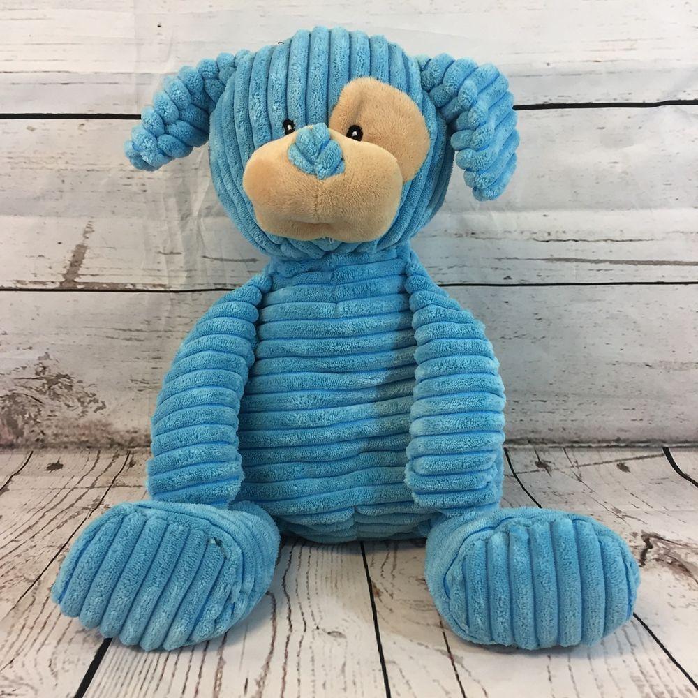 Teddy Bear Stuffed Toy, Unipak 18 Kordy Corduroy Ribbed Blue Dog Plush Stuffed Animal Puppy Toy Lovey Toy Puppies Plush Stuffed Animals Pet Puppy