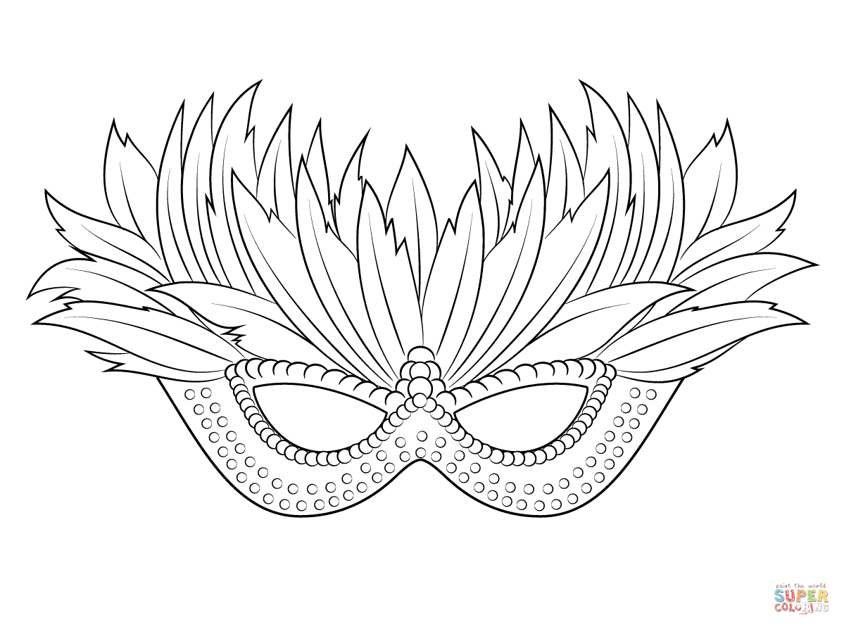Venetian Mardi Gras Mask Coloring Pages Free Printable Coloring Pages Coloring Mask