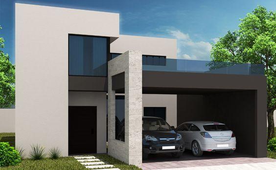 Arquitectura casa residencia fachada construccion for Casas residenciales minimalistas