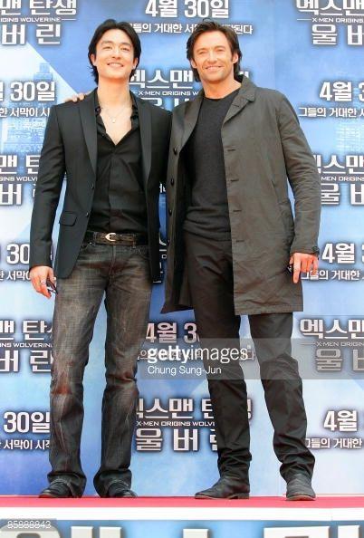 Fotografia de notícias : Actor Hugh Jackman and Daniel Henney attend the...