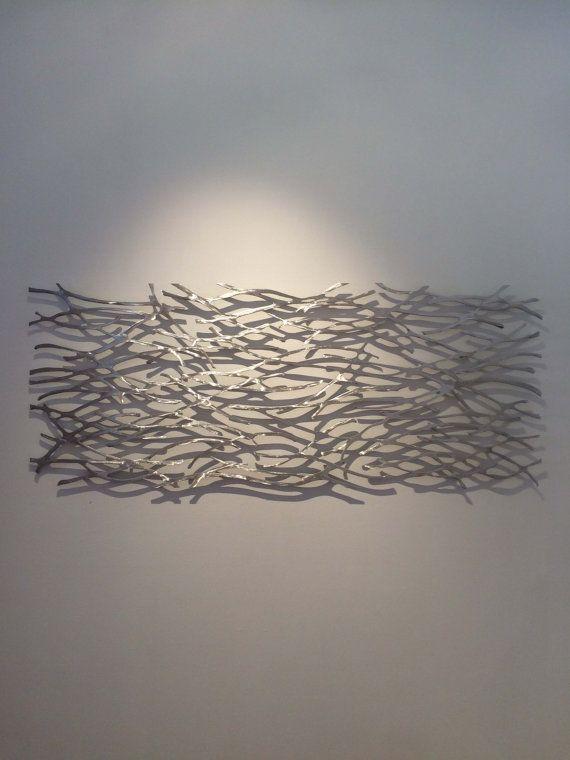 Metal Wall Art. Sculpture. Abstract. Wall Sculpture. Metallic. Home ...