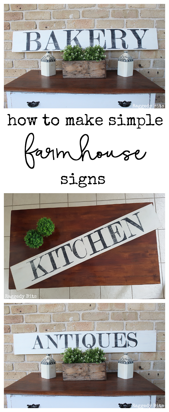 How To Make Farmhouse Bakery Antiques Kitchen Signs Craft Ideas
