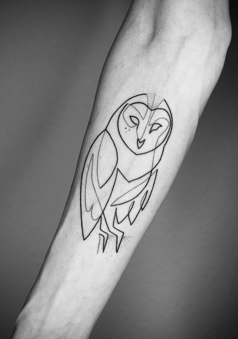 24 Creative Arm Tattoo Designs For Men That All Women Love A Simple Linework Or Geometric Design Is M Tattoo Designs Men Tattoos For Guys Geometric Owl Tattoo