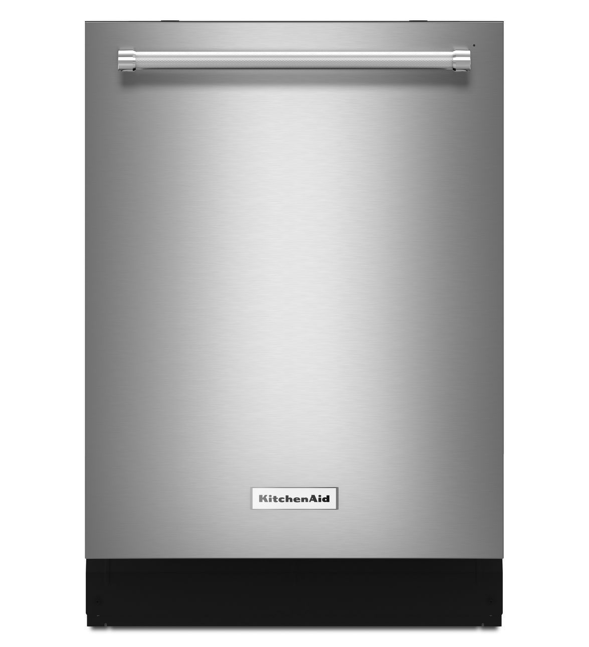 """KitchenAid KDTM354ESS dishwasher. Consumer Report's 2nd highest rated dishwasher. 85 overall score. 23 7/8""""W x 24.75""""D x 33.5""""H. 44 decibels. Approximate retail price: $1000"""
