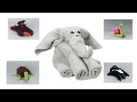 HOW TO MAKE TOWEL ANIMALS/TOWEL ART TUTORIAL - FOR BEGINNERS ... | 360x480