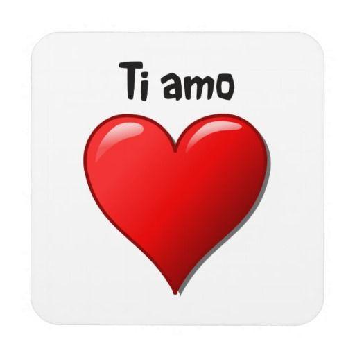 Ti Amo I Love You In Italian Coaster Zazzle Com I Love You