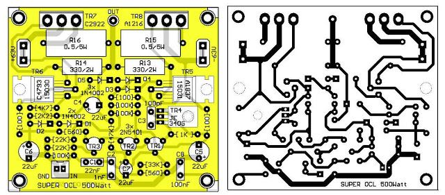 PCB Layout Design SOCL Power Amplifier | olc 2 500w | Hifi