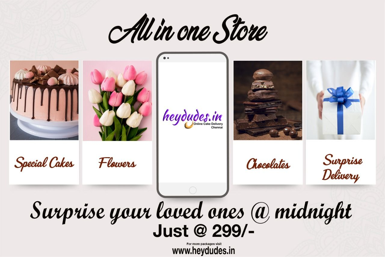 24 Hours Online Cake Delivery in Chennai.. Free Delivery