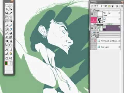 Manga Studio Coloring Tutorial: Cel Shading, Part 1 - YouTube ...