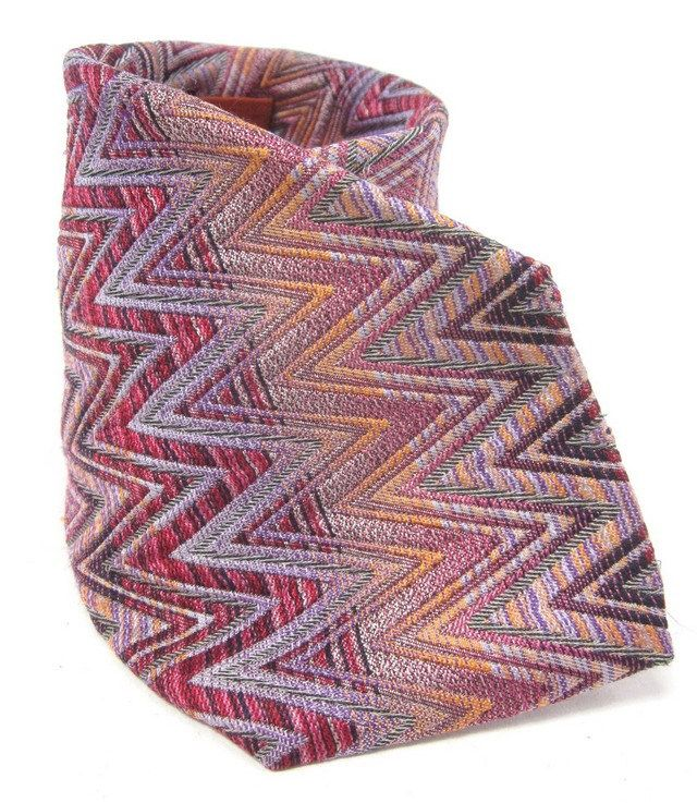 MISSONI CRAVATTE ORANGE LABEL Men's Pink Orange Purple ...