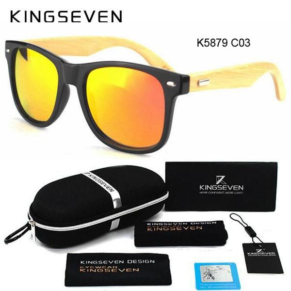255f211827f48 Bamboo Polarized Sunglasses Men Wooden Sun glasses Women Brand Designer  Original Wood Glasses