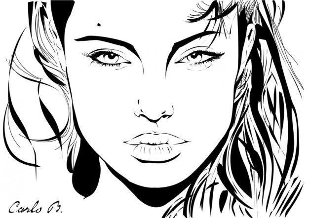 Line Art Portrait : Pin by tc sıdıka Özbek on vektörel ve pop art