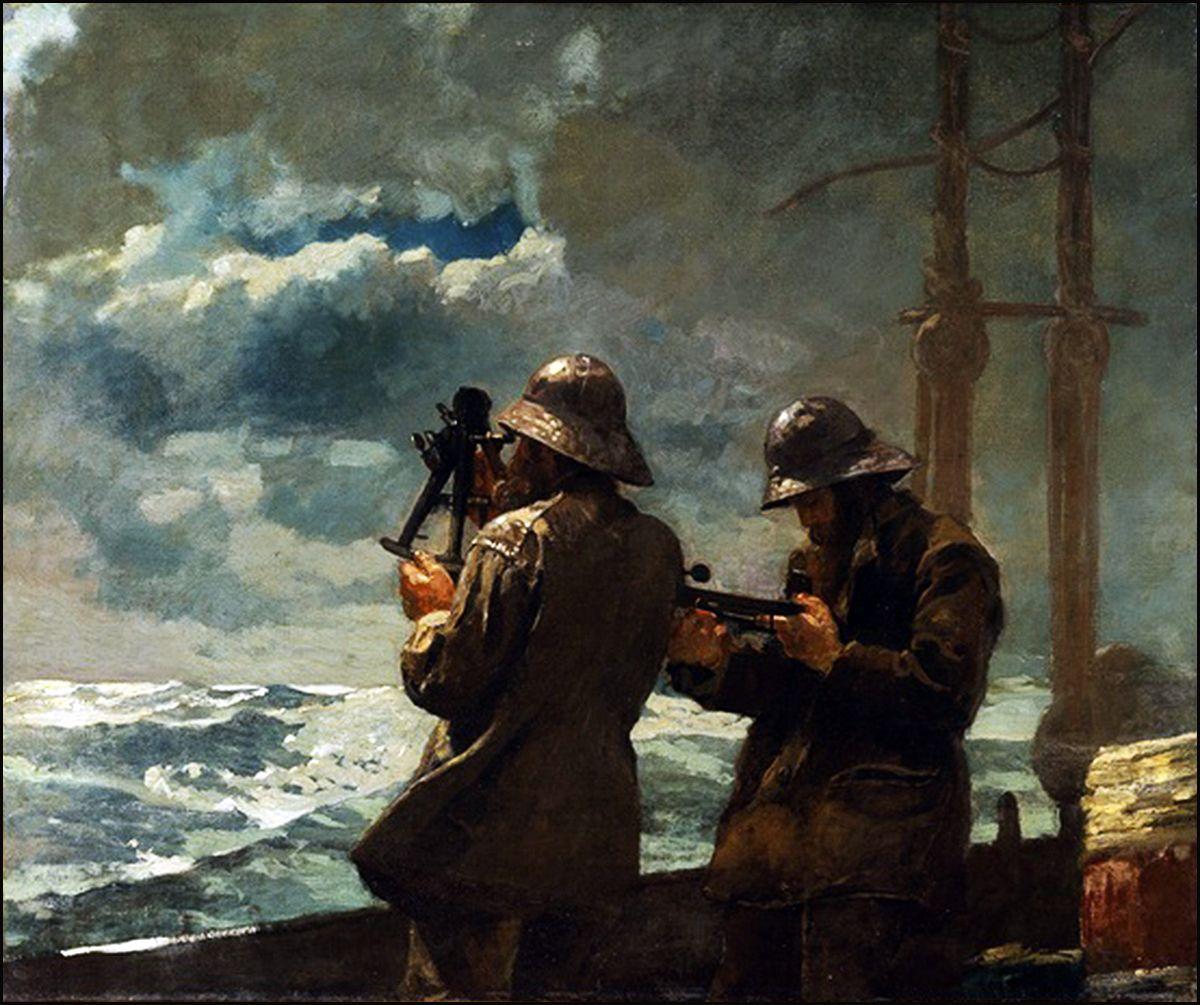 """f- """"Eight Bells"""" - Winslow Homer"""