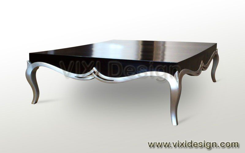 Black And Silver Furniture Mirrored Contemporary Coffee Table Black Silver Painted Furniture Abigail Cof Silver Furniture Silver Painted Furniture Coffee Table