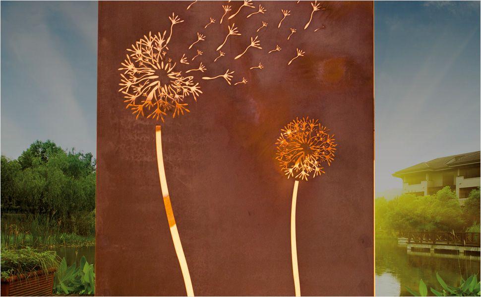 Gartenelement aus Rost Cor-ten Pinterest Zäune, Sichtschutz - gartendeko aus stein und metall