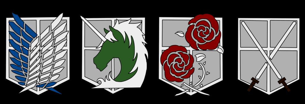 AOT all symbols (except walls) Attack on titan symbol