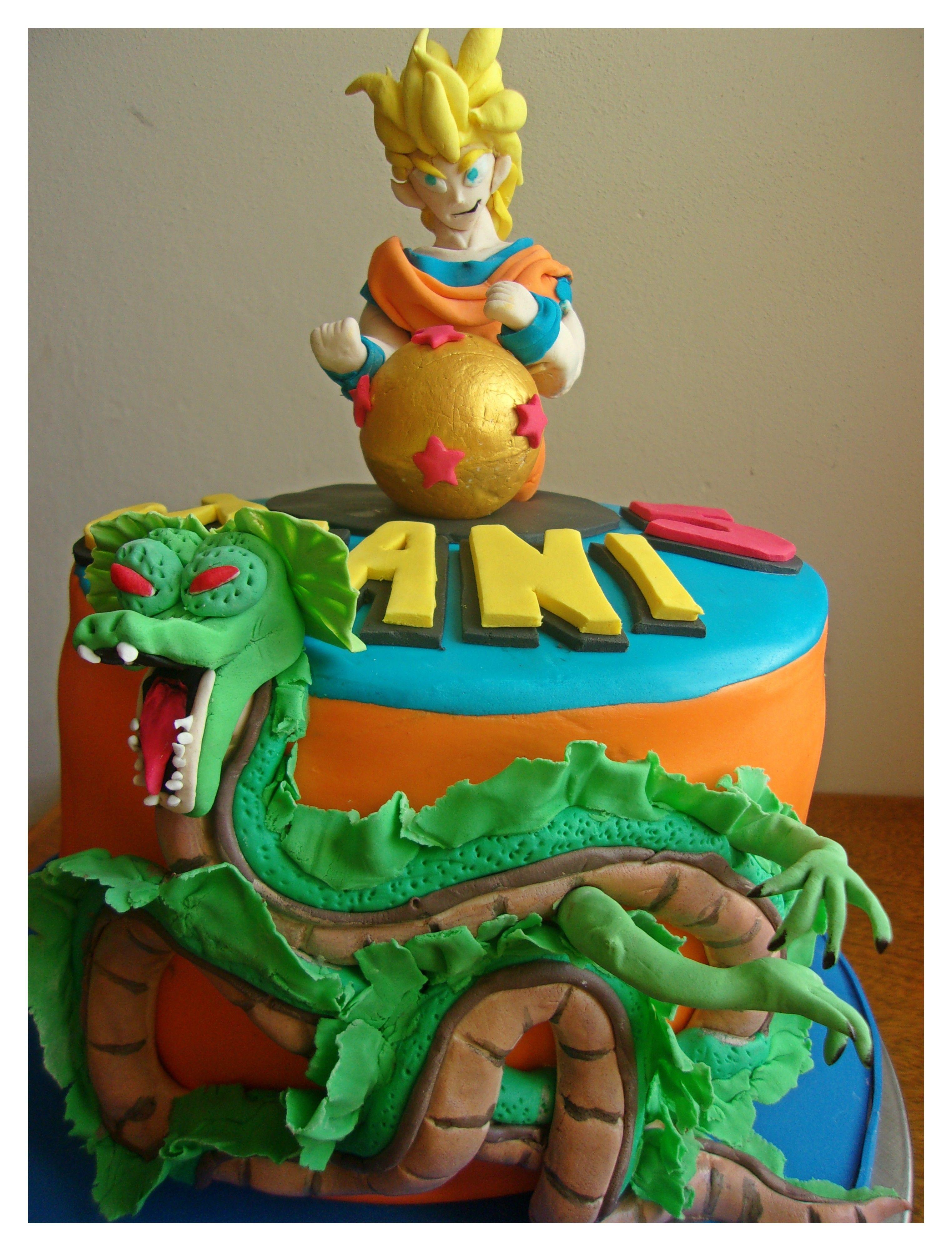 Dragon Ball Z Cake Torta Dragon Ball Z Cumpleaos Infantiles