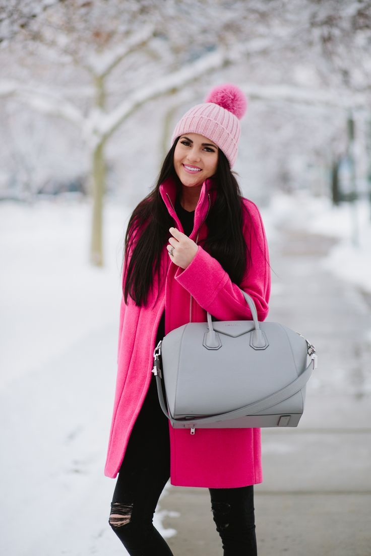More Pink Rach Parcell Winter Outfits Pink Outfits Outfits With Hats