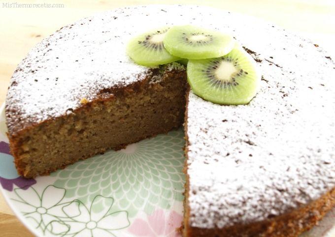 Bizcocho integral de kiwi y plátano - MisThermorecetas.com