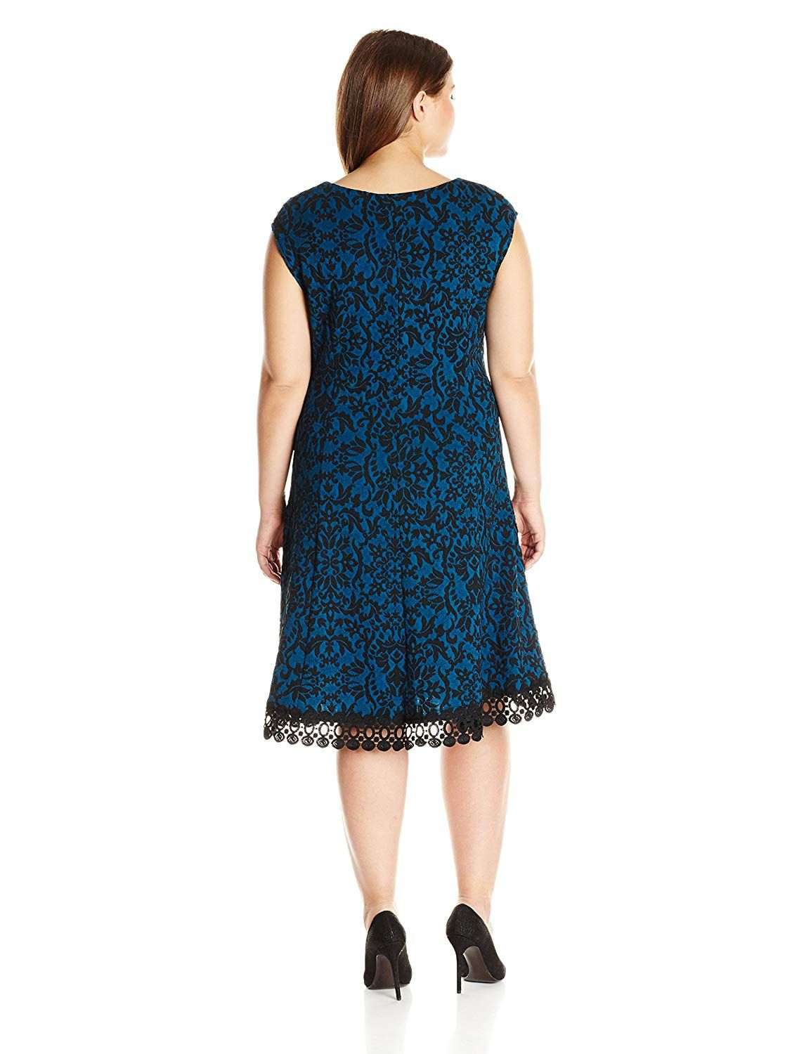 0eb9a2d81fc Sandra Darren Women s Plus Size 1 Pc Extended Shoulder Couble Knit Lace  Dress     Learn more by visiting the image link. (This is an affiliate  link)   ...