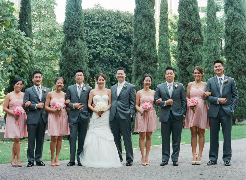 Gray And Pink Wedding Party Inviwall