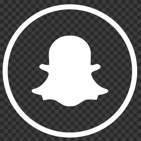 Round Outline Snapchat Logo Icon Ghost White Png Snapchat Logo Logo Icons Ghost White