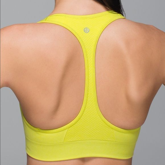 Yellow Lululemon bra Used but still has lots of life left! Love this bra! Very supportive and comfortable. lululemon athletica Intimates & Sleepwear Bras